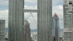 Petronas Towers, Skybridge, Malaysia, Stock Footage
