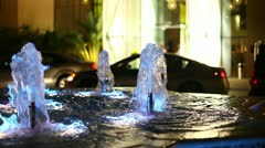 Decorative fountain near the hotel in Abu Dhabi Stock Footage