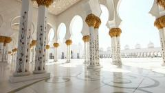 Stock Video Footage of Sheikh Zayed Mosque in Abu Dhabi