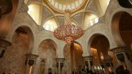 Stock Video Footage of Chandelier in Sheikh Zayed Mosque Abu Dhabi