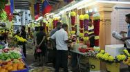 Little India flower market, Malaysia, Stock Footage