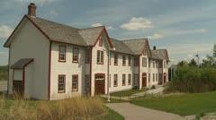 Fort Calgary 1914 barracks recreation, montage Stock Footage