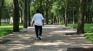 Park Walkers Stock Footage