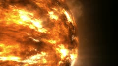 The sun isolated close-up with alpha channel Stock Footage