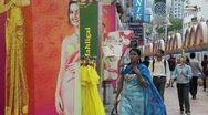 Little India flower market, Kuala Lumpur, Malaysia Stock Footage