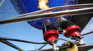 Stock Video Footage of Burning torch heats up air in balloon of club of aeronautics