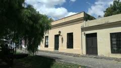 Uruguay Colonia del Sacramento houses Stock Footage