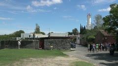 Uruguay Colonia light house Stock Footage