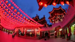 Thean Hou Chinese Temple, Kuala Lumpur, Malaysia Stock Footage