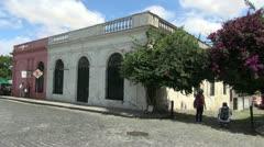 Uruguay Colonia street & doors s Stock Footage