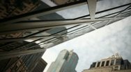Urban City Tracking Reflection, New Building Stock Footage