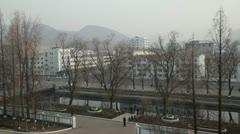 Pyongshong, satellite city, North Korea Stock Footage