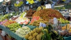 Fresh Fruit Market in Bangkok Stock Footage