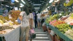 Fresh Fruit Market in Thailand Stock Footage