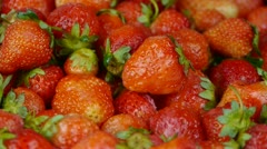 Rotation of delicious strawberry. Stock Footage