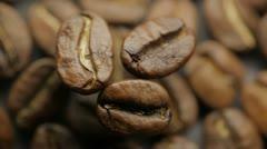 Aroma of coffee grains - stock footage