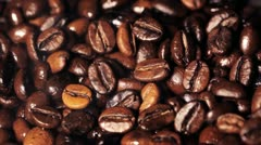 Aroma of coffee grains Stock Footage