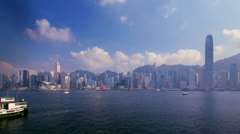 Hong Kong Harbour Time-lapse V - daytime Stock Footage