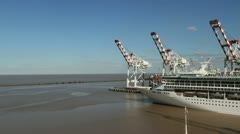 Buenos Aires Ship Leaving harbor timelapse Stock Footage