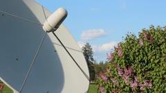 Satellite Dish Cloud Time Lapse - stock footage