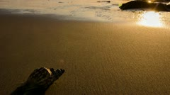 Sunset timelapse on the beach Stock Footage