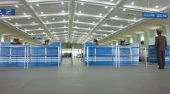 Pyongyang International airport, North Korea Stock Footage