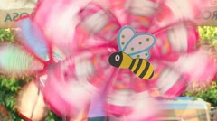 Windmill Toys close-up - stock footage