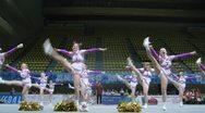 Talisman team participates in Championship on cheerleading Stock Footage