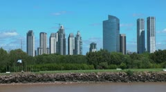 Buenos Aires tall buildings Stock Footage