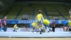 Litsei team participates in Championship on cheerleading Stock Footage