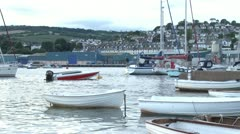 Boats in Teignmouth Harbour Stock Footage