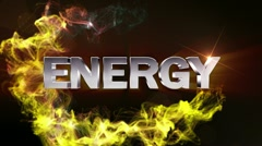 ENERGY Text in Particle (Double Version) - HD1080 Stock Footage