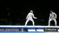 Women compete on championship of world in fencing Stock Footage