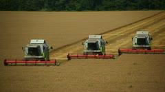 three harvester - stock footage