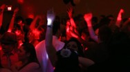 Stock Video Footage of young crowd partying and dancing to the music