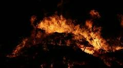 Fire Close Clip 04 Part 1 Stock Footage