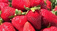 Stock Video Footage of strawberries in pile turning
