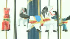 old carousel toy - stock footage