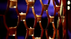 Traditional Indian Candle Lamps Stock Footage