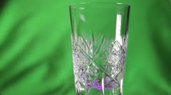 Poured into a crystal glass of soda water Stock Footage