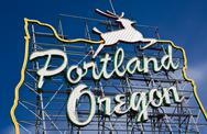 Portland, Oregon sign Stock Photos