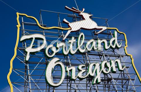 Stock photo of Portland, Oregon sign
