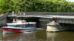 Medovyi bridge, Kaliningrad. Russia Stock Footage