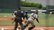 Out At First Base Stock Footage