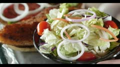 Salad and Dressing - stock footage