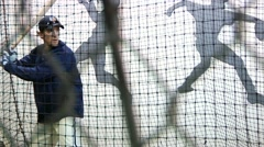 Baseball Batting Practice 1 Stock Footage