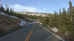P02007 Vehicle View Driving in Alpine Mountains at Rocky Mountain National Park - stock footage