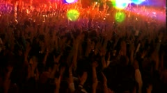 Concert crowd dance Stock Footage