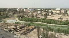 Overview of demolition of a Xinjiang village (Hotan) Stock Footage