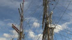 Argentina Ushuaia masts lines and rigging  Stock Footage